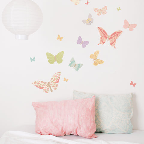Girls Bedroom Butterfly Removable Wall Decals Girls Decor Kids Bedroom Nursery Decor