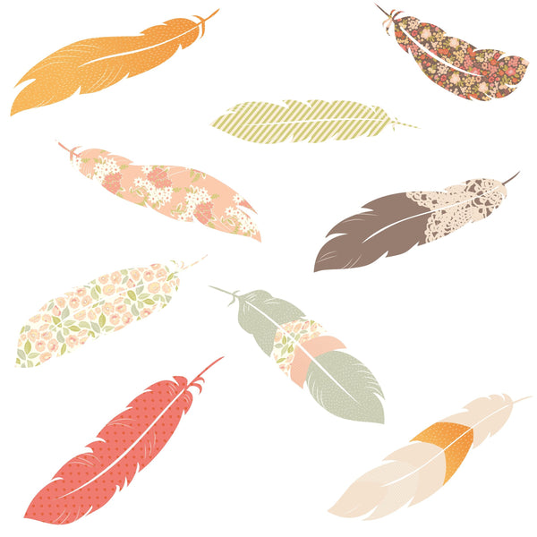 Feather Decals Layout Idea Love Mae Made and Designed in Australia