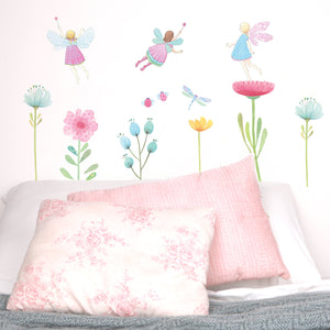 Fairy Bedroom Wall Decal Reusuable Fabric by Love Mae Made and Designed in Australia