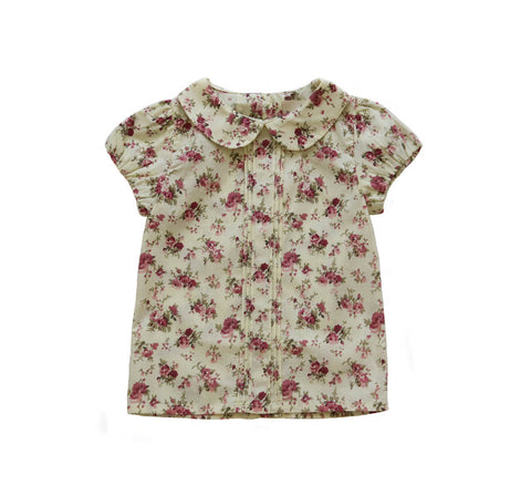 poppy harper mikyla floral cotton pleat blouse