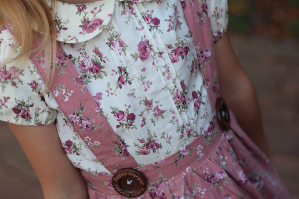 pretty floral girls clothing poppy harper signature buttons