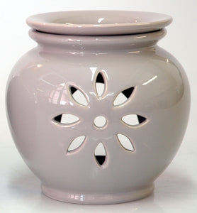 Oil Burner Flower Cutout Light Grey