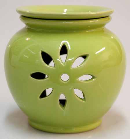 Oil Burner Flower Cutout Lime