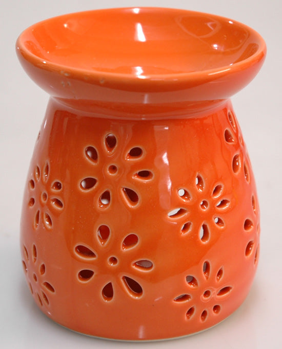 Oil Burner Daisy Cutout Orange