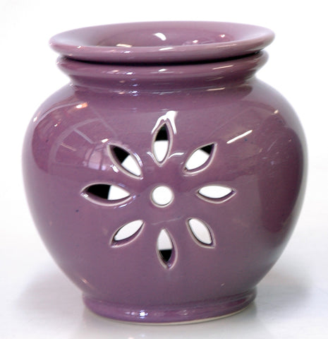 Oil Burner Flower Cutout Lavender