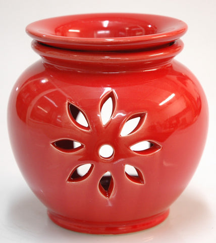 Oil Burner Flower Cutout Burnt Orange/Red