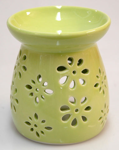 Oil Burner Daisy Cutout Lime