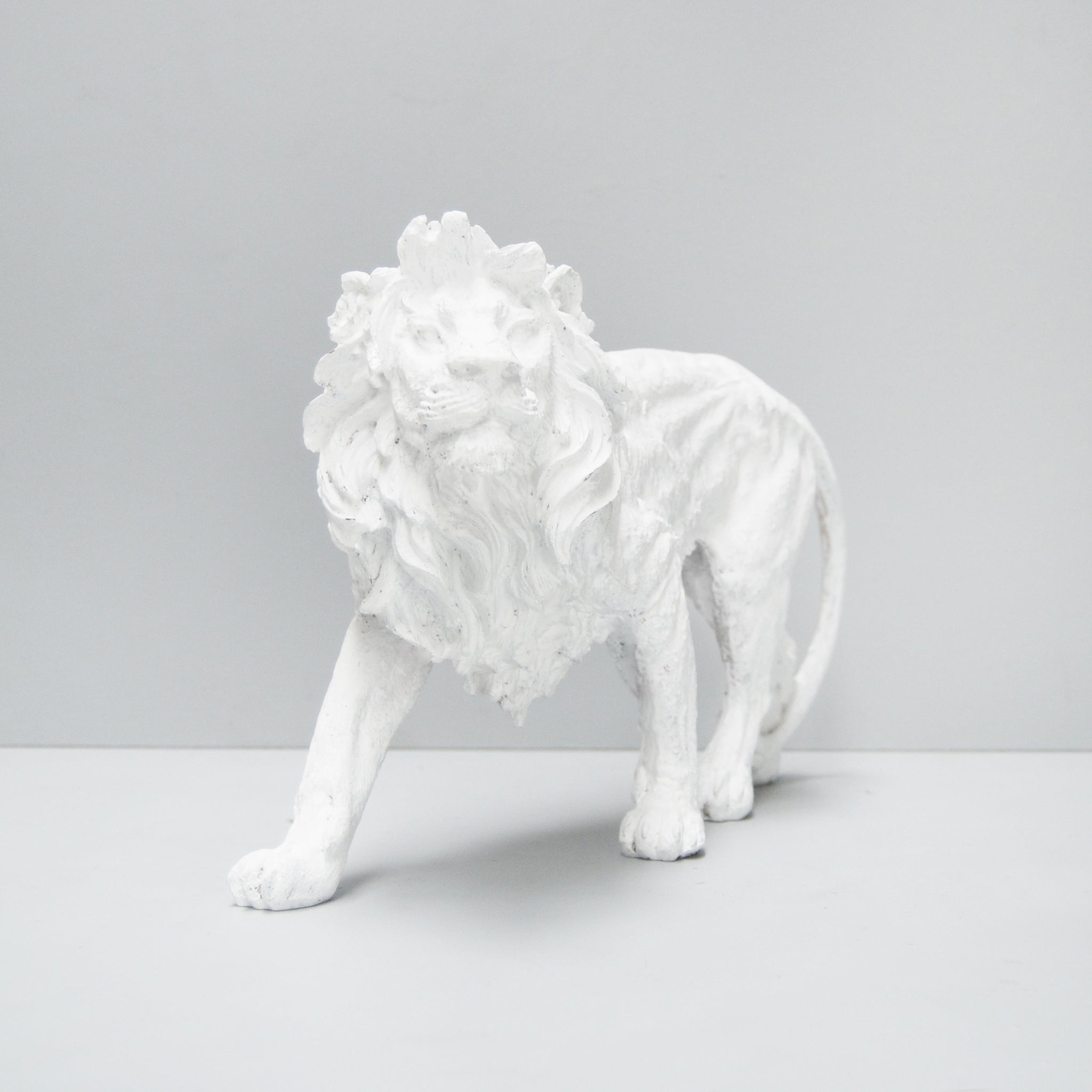 white resin walking lion white moose australian designed unique home decor and gifts masculine interior style