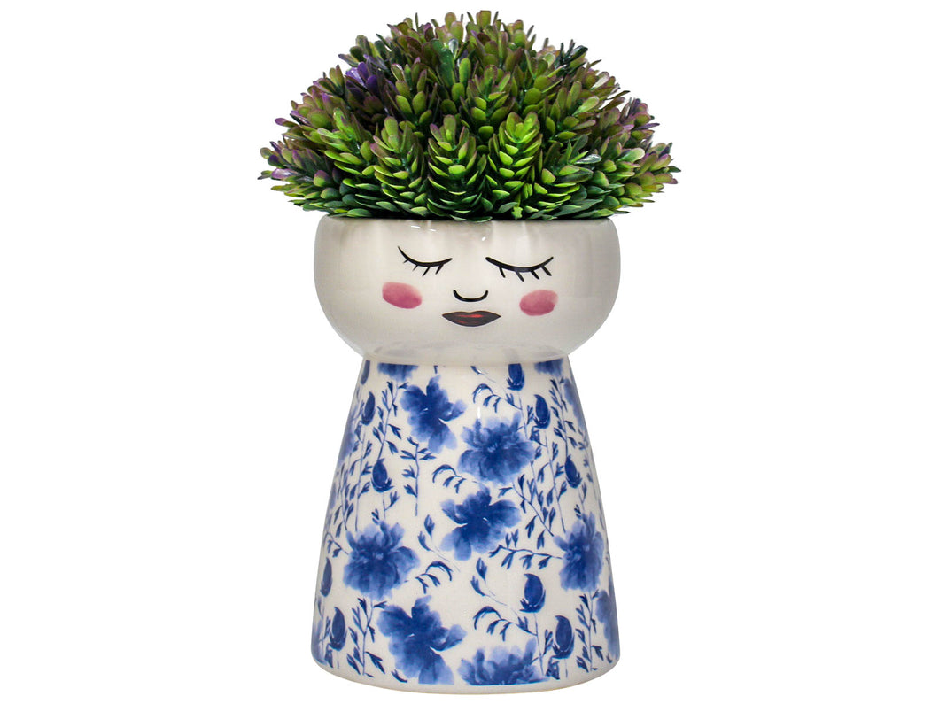 Ceramic Doll Vase - Japanese Floral