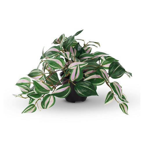 artificial plant in pot wandering jew spiderwort floral interiors fake houseplant