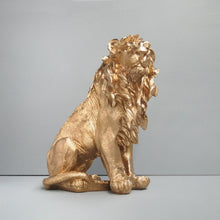 Load image into Gallery viewer, Sitting Lion - Gold