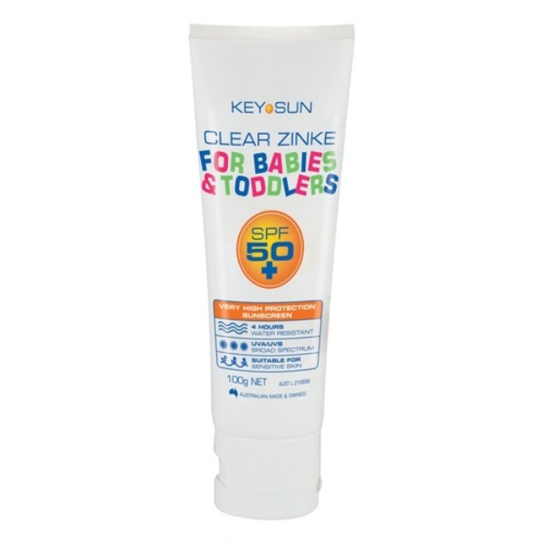 Keysun- Clear Zinke Babies and Toddler SPF 50+ Tube (3.5 oz 100g)