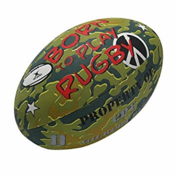 Gilbert- Born To Play Rugby Ball Size 5