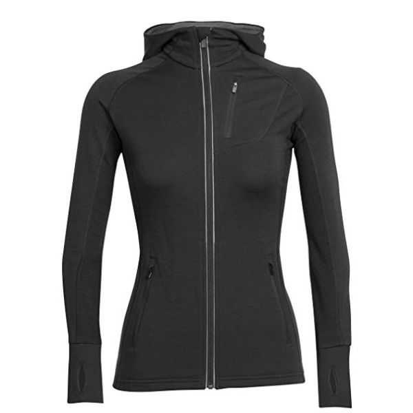 Icebreaker - WOMEN'S QUANTUM LONG SLEEVE ZIP HOOD