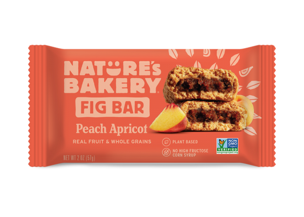 NATURE's BAKERY- WHOLE WHEAT FIG BAR - PEACH APRICOT