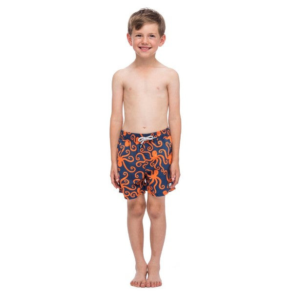TOM & TEDDY - TOM & TEDDY BOY'S SHORTS - OCTOPUS BLUE & ORANGE