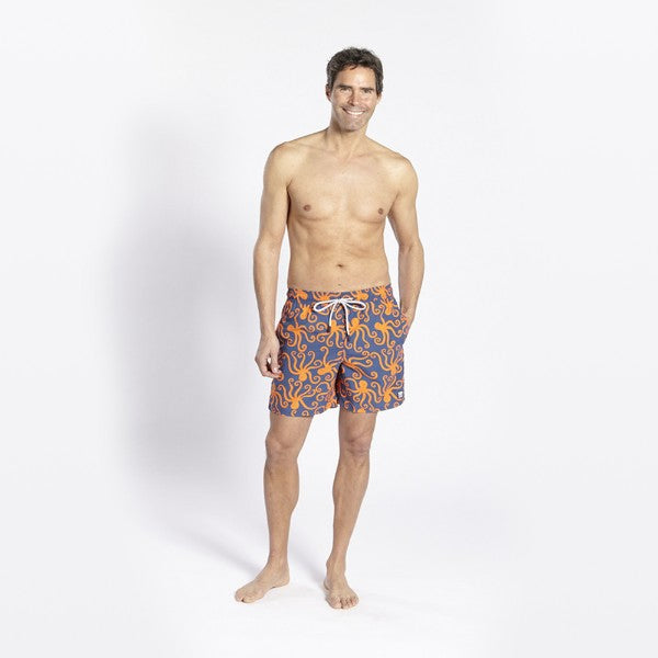 TOM & TEDDY - TOM & TEDDY MEN'S SHORTS - OCTOPUS BLUE & ORANGE