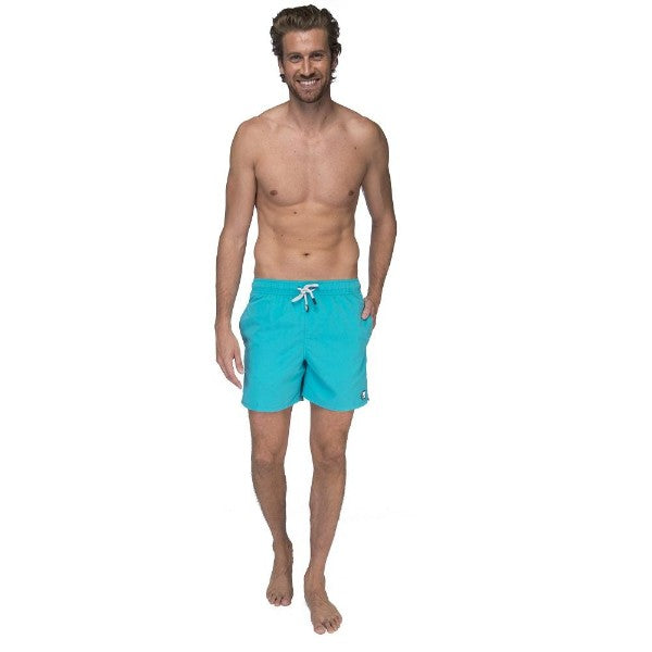 TOM & TEDDY - TOM & TEDDY MEN'S SHORTS - SOLID POOL BLUE