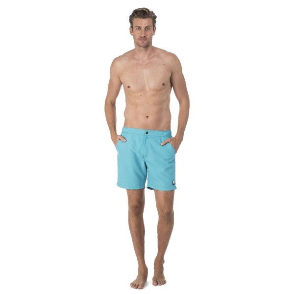 TOM & TEDDY - TOM & TEDDY MEN'S SHORTS - SOLID SCUBA BLUE