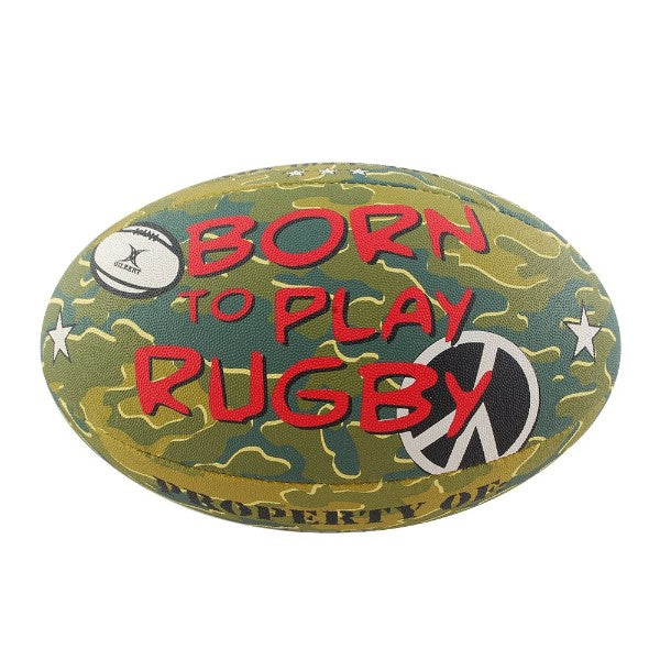Gilbert- Born To Play Rugby Ball (Size 5)
