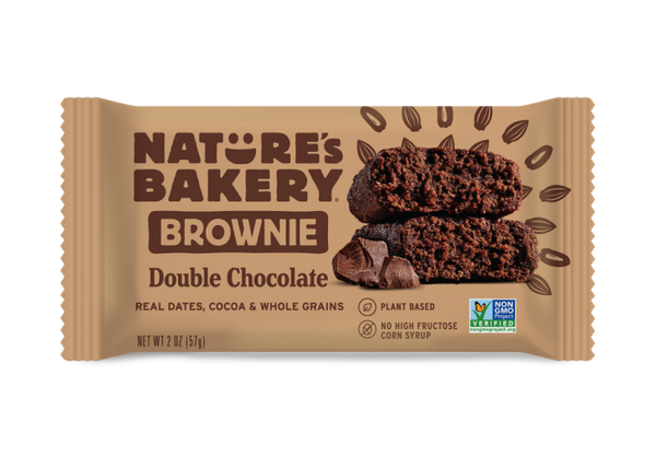 NATURE's BAKERY- BROWNIE BAR- DOUBLE CHOCOLATE