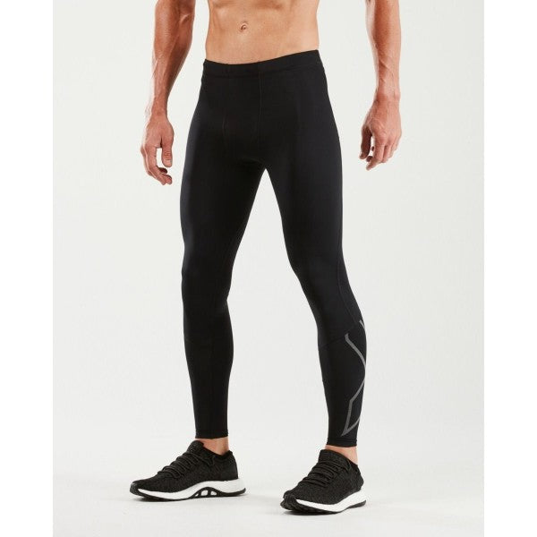2XU - MEN`S RUN COMPRESSION TIGHTS (BLACK/REFLECTIVE)