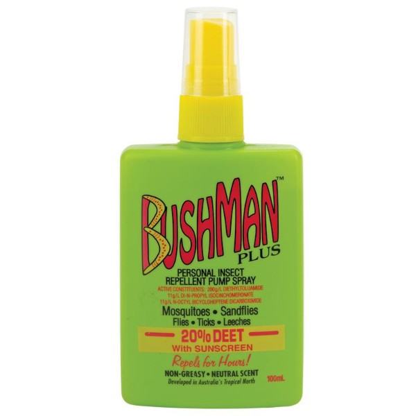 Bushman Plus Insect Repellent Spray 100 ml with Sunscreen