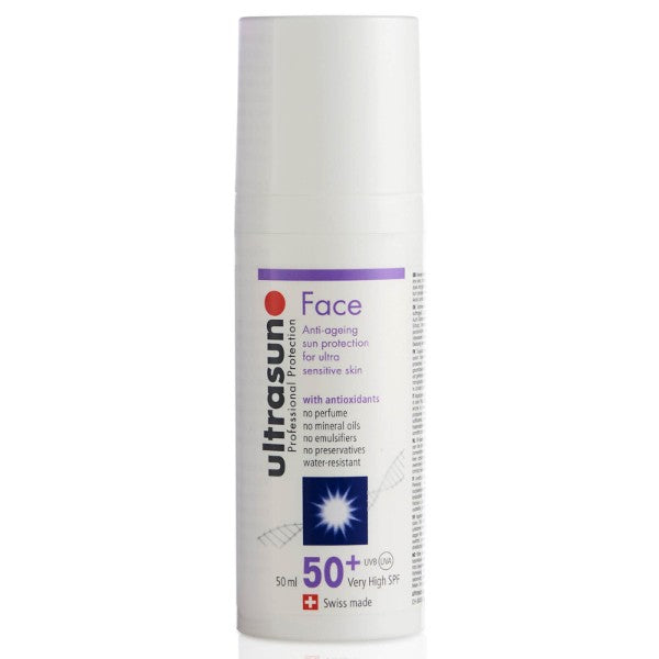 UltraSun- Face Sunscreen and Moisturiser 50+SPF (1.6 oz 50 ml)