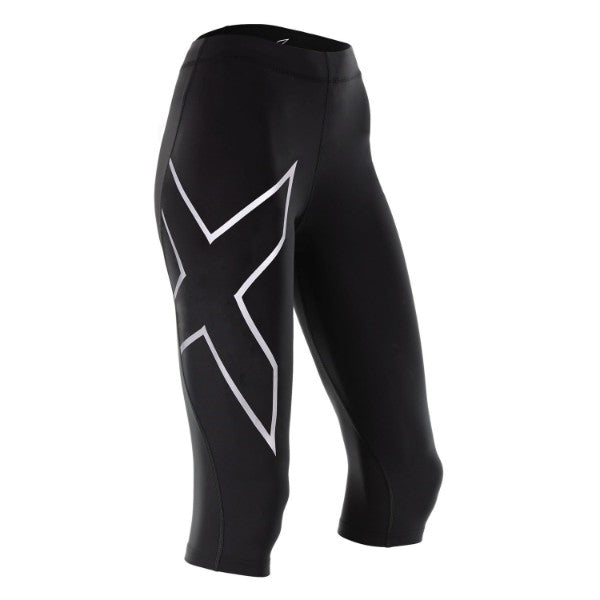 2XU - Women's TR2 Compression Tight 3/4 / Black / Silver