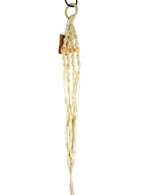 Saratoga Style Macrame Plant Hanger 35''  001ZS05 White Cotton with Wood Beads - Saratoga Style