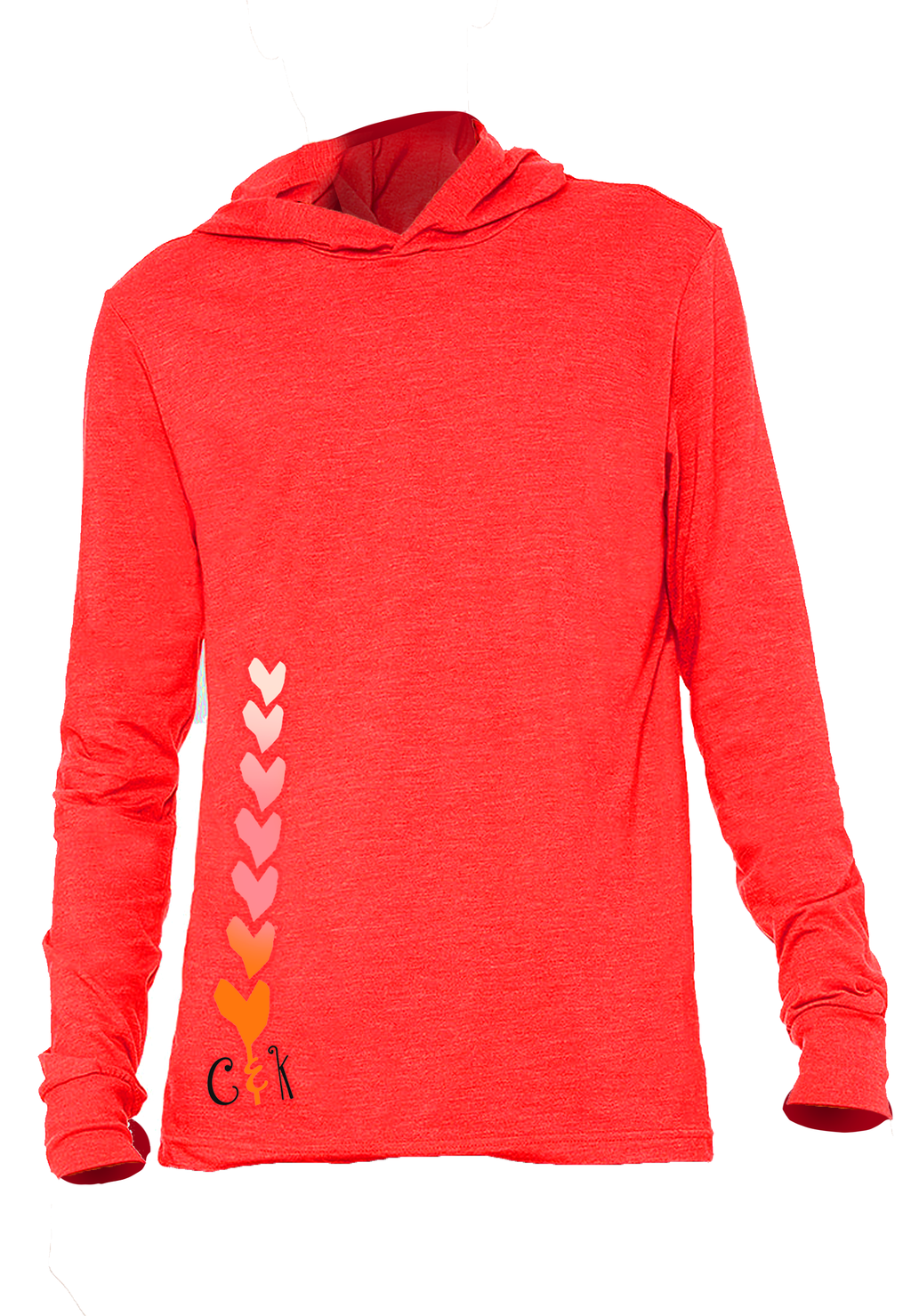 7 OF HEARTS - LIGHT WEIGHT HOODIE