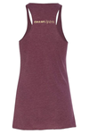 STRIPED HEART MAROON TANK