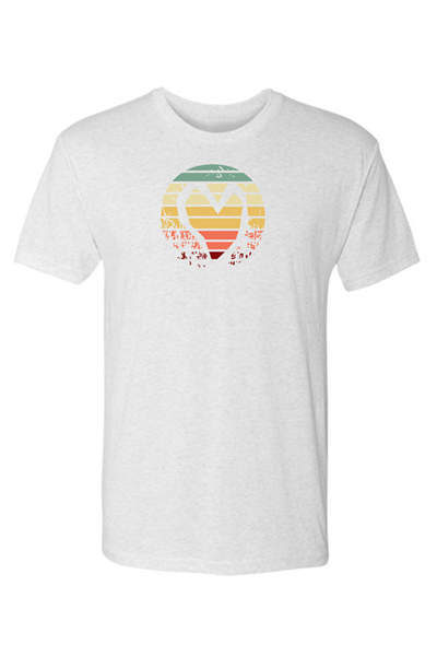 STRIPED HEART TEE