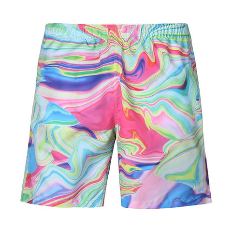 Lovely Beach Shorts Street Hip Hop - 3D Digital Print Breathable Elastic Waist Shorts