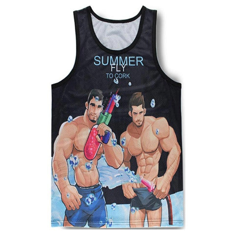 Muscular Man 3D Print Slim Cool Tank Top