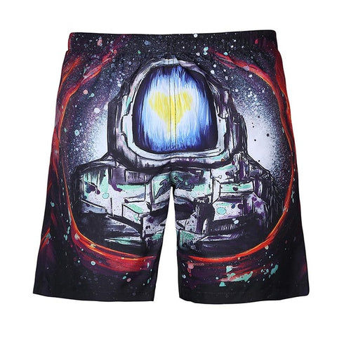 Beach Shorts - 3D Digital Print Breathable Elastic Waist Shorts
