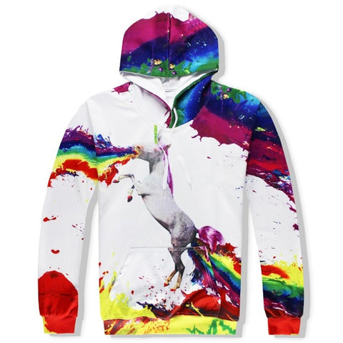 Unicorn Rainbow Unisex 3D Hooded Sweatshirts and Long Pant Sets for Men & Women