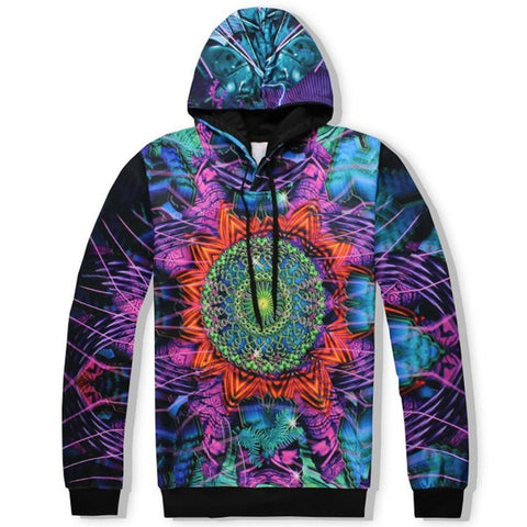 Leaves Flowers Unisex 3D Hooded Sweatshirts and Long Pant Sets for Men & Women