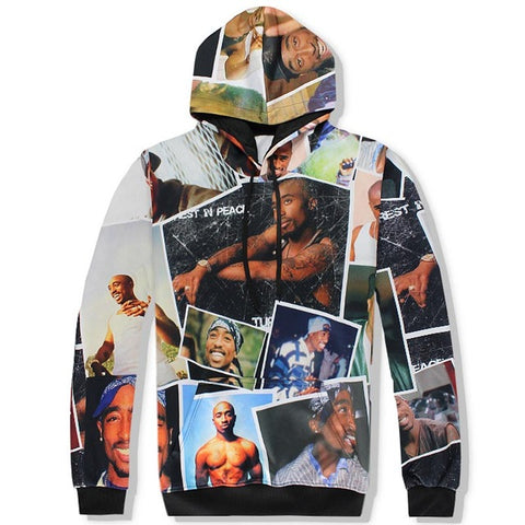 2pac/Tupac Unisex 3D Hooded Sweatshirts and Long Pant Sets for Men & Women