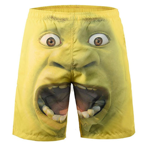 Surprised Face - 3D Digital Print Breathable Elastic Waist Shorts