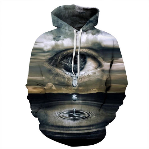 Big Crying Eyes 3D Print Hoodies