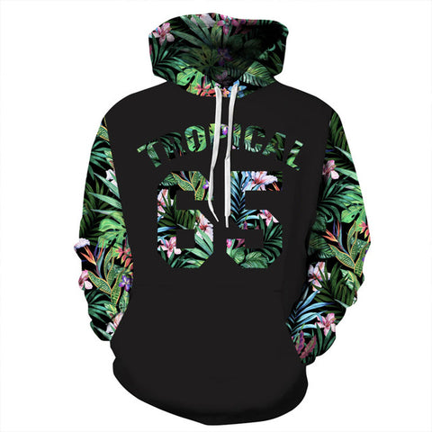 Number 65 Letters Flowers 3D Print Hoodies