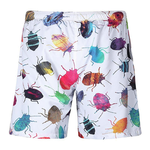 Bedbug - 3D Digital Print Breathable Elastic Waist Shorts
