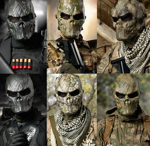 Multicam Dark Night Ghost Camouflage Full Face Masks