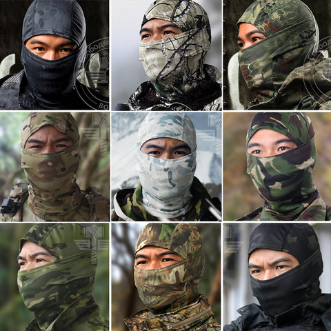 Camouflage 18 Style Full Face Mask