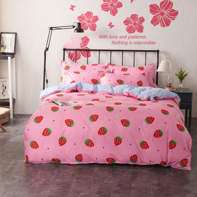 4-Piece Printed Cotton Bedding Set