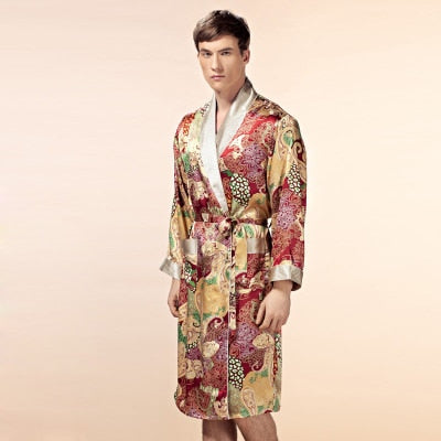 100% Silk Robe Kimono for Men