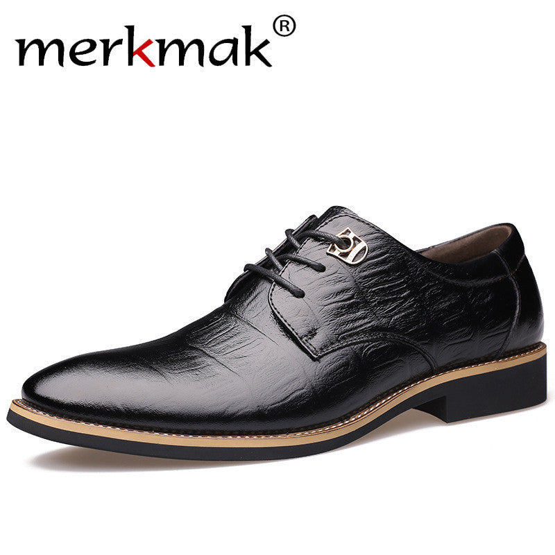 Merkmak 2017 Luxury Men's Brown / Black Dress Shoe