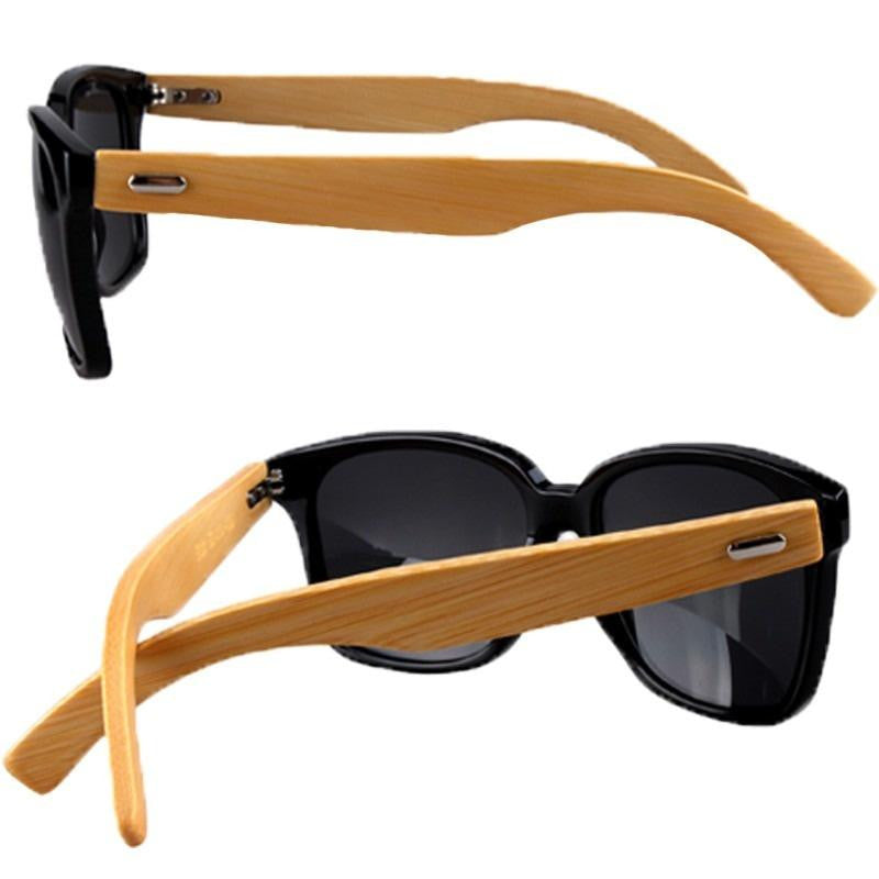 Jet Setter - Bamboo Wood Sunglasses Brown / Black