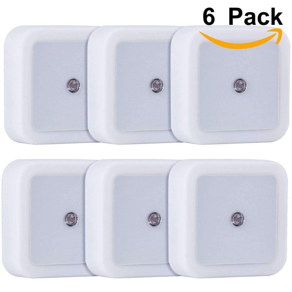 stylishlytechie:LED Night Light Wall Lamp with Dusk to Dawn Sensor (6 Pack)